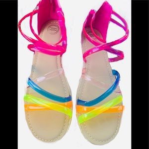 Colorful jelly sandals